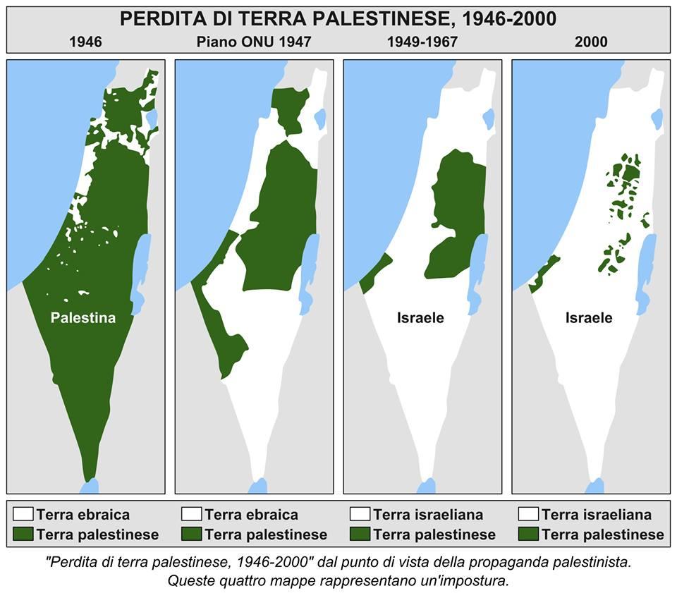 Israele E Palestina Cartina.Decostruire Il Mito Palestinese Le Mappe False